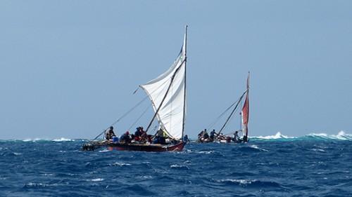 סירות הקאנו פילסו את דרכן בין הגלים, נגד הרוח, ואל הים לא חס עליהן גם כשממש התקרבו לנמל הבית. צילום: טניה רמניק ואורן טל