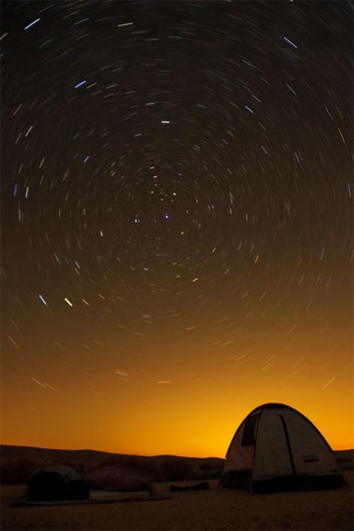 מסלולי כוכבים סביב כוכב הצפוןצילום: מיכאל צוקראן