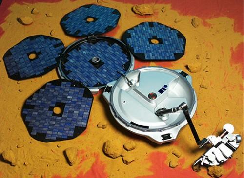 הדמיה של הנחתת ביגל־2 על פני מאדיםצילום: סוכנות החלל האירופית ESA