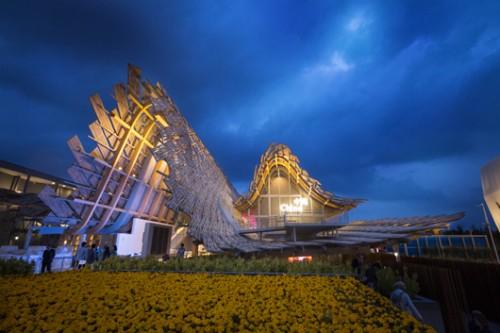 הרמוניה מושלמת. הביתן הסיני, מתוך תערוכת Expo (צילום: Daniele Mascolo)
