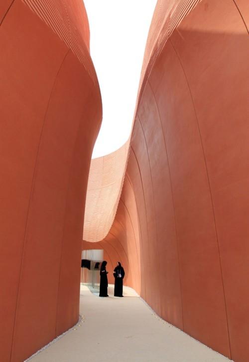 השראה מחול המדבר. הביתן של איחוד האמירויות (צילום: Daniele Mascolo)