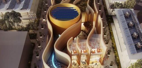 מבט על. הביתן של איחוד האמירויות, מתוך תערוכת Expo (צילום: Daniele Mascolo)