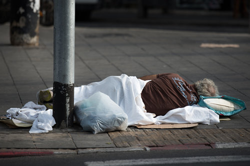 הומלסים בתל אביב. צילום: נמרוד סונדרס