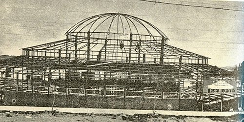 עוד לא נולד. בניין הסינרמה בשנת 1949 (צילום: לעם)