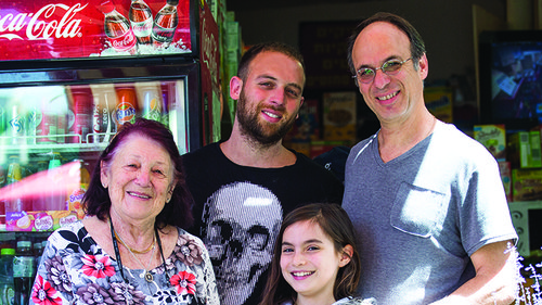 רמי טיטלבוים ומשפחתו. צילום: מיכאל נחמיאס