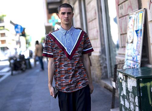 שבוע האופנה לגברים במילאנו. צילום: אסף ליברפרוינד