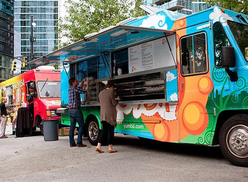 משאית אוכל בניו יורק. אצלנו הן לא זזות. צילום:shutterstock