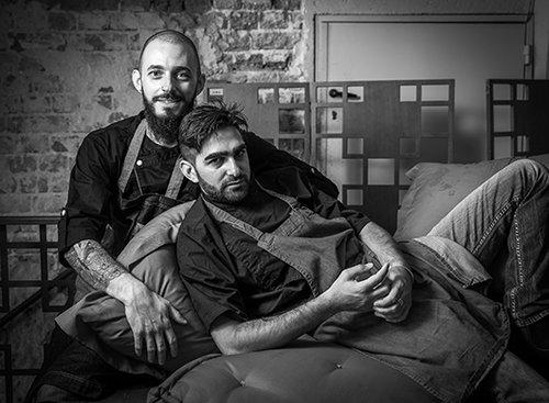 טיפוסים משלימים. אריק דרחני (מימין) ומולי מגריסו, אונזה. צילום: אנטולי מיכאלו