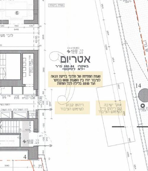 """""""שטח זיקת הנאה לציבור"""". תכנית הבנייה של רוטשילד 22"""