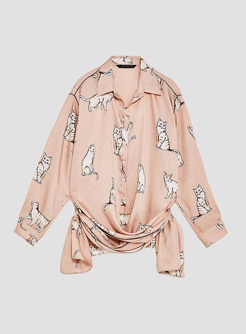 חולצת חתולים. מתוך אתר ZARA