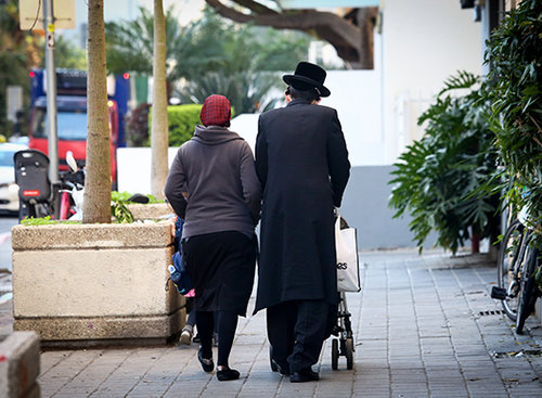 חרדים בתל אביב. צילום: שלומי יוסף