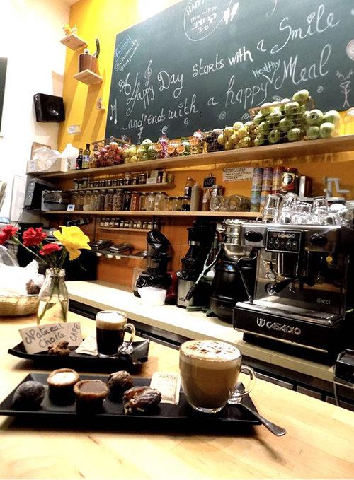 קפה הבחירה הטבעית , טבעי שתבואו. צילום: שרה אנא עלון עמר