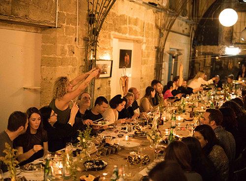 הארוחה הסודית הראשונה לחורף 2018 בבית קנדינוף. צילום: דניאל לילה