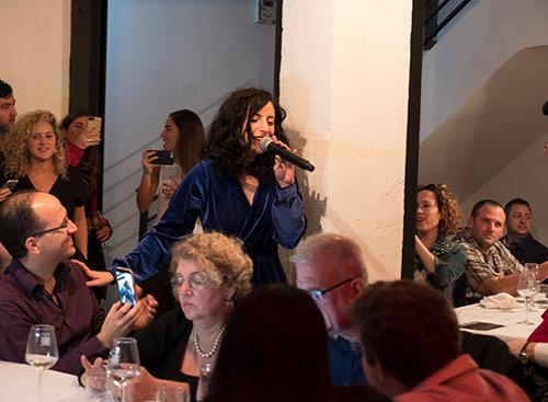 אפרת גוש בארוחה הסודית השנייה לחורף 2018. צילום: אנטולי מיכאלו