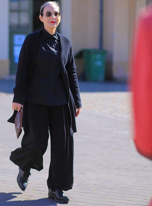 דורין פרנקפורט בשבוע האופנה 2018. צילום: אסף ליברפרוינד