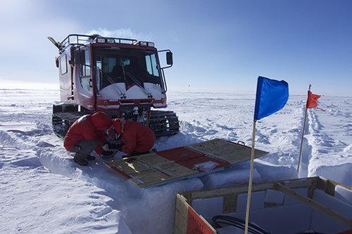 בתחנת המחקר באנטארקטיקה