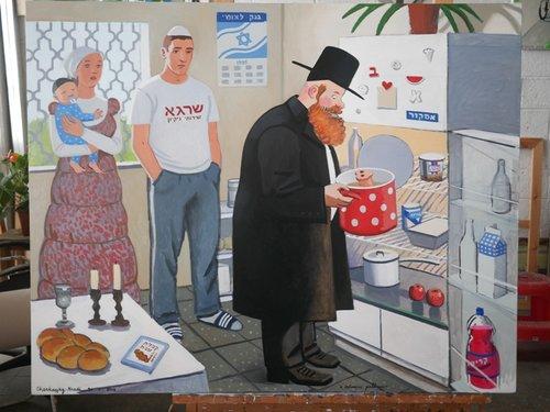 """""""בדיקת כשרות"""", עבודה של זויה צ'רקסקי (צילום: באדיבות האמנית וגלריה רוזנפלד, תל אביב)"""