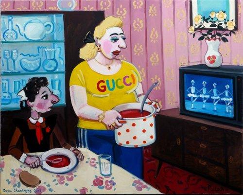 עבודה של זויה צ'רקסקי (באדיבות האמנית ולגלריה רוזנפלד)