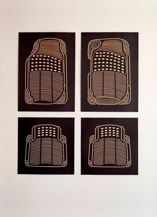 """""""סט שטיחונים לרכב"""" (צילום: תומר אפלבאום)"""