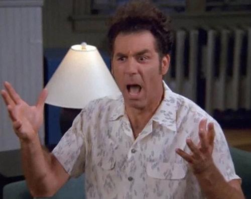 """""""מה זאת אומרת סלקציה ברוקוקו""""? קוזמו קרמר, צילום מסך מתוך סיינפלד"""