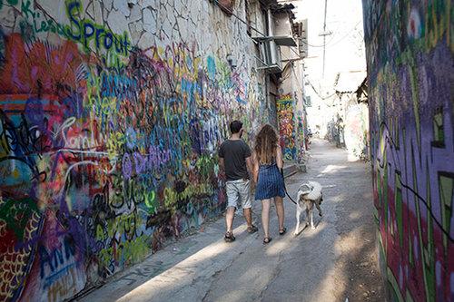 """זה מה שקרה ל""""שכונה הכי היפסטרית"""" (צילום: טלי מאייר)"""