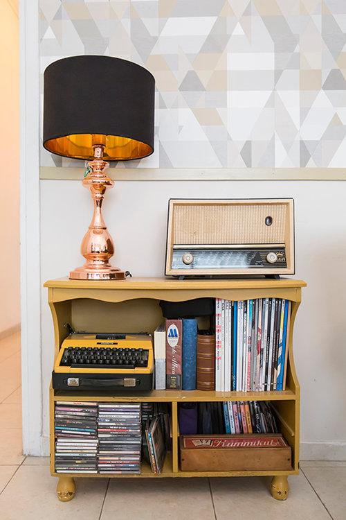 בדירה של אורטל סיגלר מאור וחזי מאור. צילום: הילה עידו
