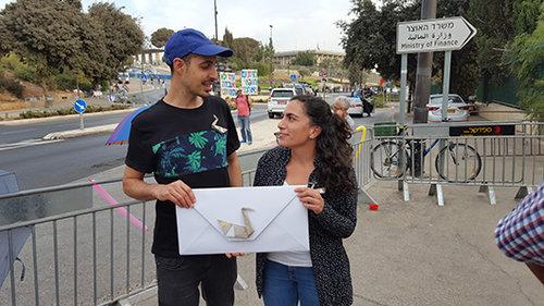 מיכל רפפורט ואברהם קריצמן (צילום: איל שר)