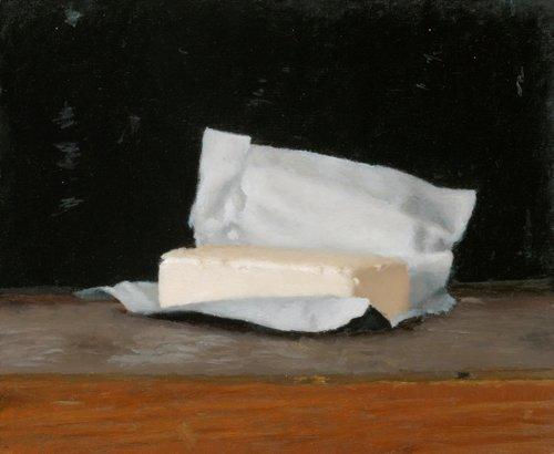 ארם גרשוני, חמאה, שמן על עץ, 2018