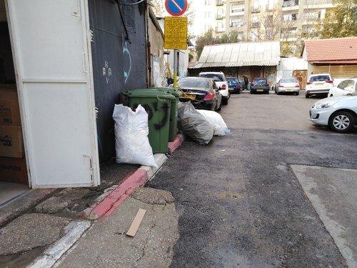 פסולת על המדרכה בתל אביב (צילום: עמותת אור ירוק)