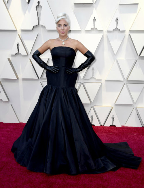 ליידי גאגא בשמלת אלכסנדר מקווין. צילום: GettyImages